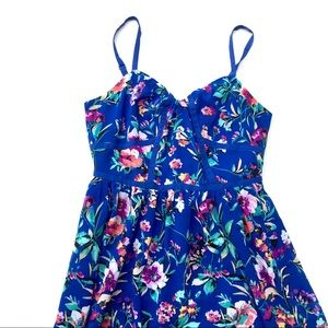 Nicole cami dress in blue floral, size 6